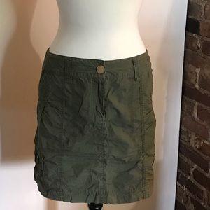 Olive Green Mini Skirt
